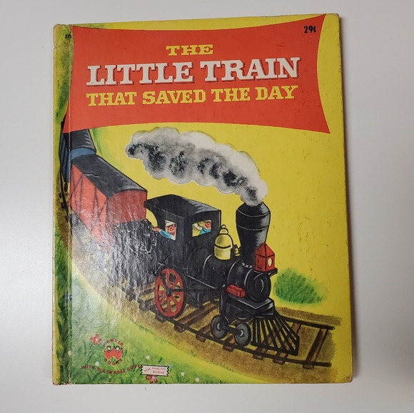Vintage The Little Train that Saved the Day ! Book